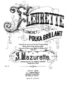 Fleurette (Floweret), Op.131: Fleurette (Floweret) by Salomon Mazurette