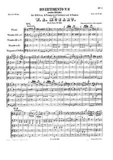 Divertissement in C-Dur, K.188: Vollpartitur by Wolfgang Amadeus Mozart