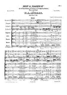Dixit Dominus und Magnificat, K.193: Dixit Dominus und Magnificat by Wolfgang Amadeus Mozart
