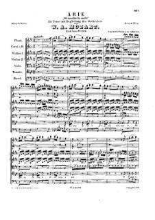 Si mostra la sorte, K.209: Vollpartitur by Wolfgang Amadeus Mozart