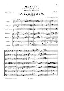 Marsch in D-Dur, K.215: Marsch in D-Dur by Wolfgang Amadeus Mozart