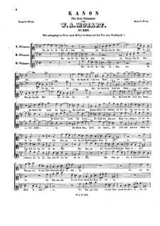 Sie ist dahin, K.229: Sie ist dahin by Wolfgang Amadeus Mozart