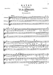 Essen, Trinken, K.234: Essen, Trinken by Wolfgang Amadeus Mozart