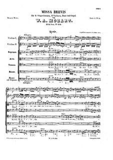 Messe Nr.14 in B-Dur (Missa brevis Nr.9), K.275: Kyrie by Wolfgang Amadeus Mozart