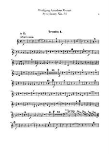 Sinfonie Nr.31 in D-Dur 'Pariser', K.297: Trompetenstimmen by Wolfgang Amadeus Mozart