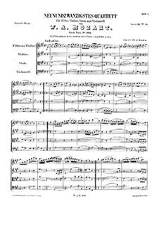 Quartett für Flöte und Streicher in A-Dur, K.298: Partitur by Wolfgang Amadeus Mozart