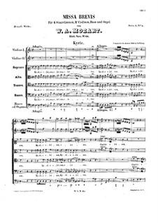 Messe Nr.2 in d-Moll (Missa brevis Nr.2), K.65: Messe Nr.2 in d-Moll (Missa brevis Nr.2) by Wolfgang Amadeus Mozart