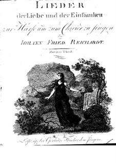 Lieder der Liebe und der Einsamkeit: Buch II by Johann Friedrich Reichardt