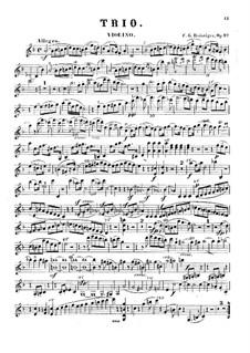 Klaviertrio Nr.8, Op.97: Stimmen by Carl Gottlieb Reissiger