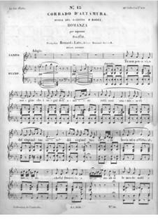 Corrado d'Altamura. Romance for Voice and Piano: Corrado d'Altamura. Romance for Voice and Piano by Federico Ricci