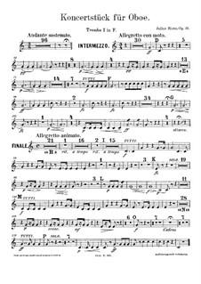 Konzertstück für Oboe und Orchester, Op.33: Trompetenstimmen by Julius Rietz