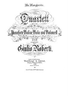 Klavierquartett in f-Moll: Vollpartitur, Stimmen by Giulio Roberti