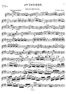 Violinkonzert Nr.11 in D-Dur, Op.23: Für Violine und Klavier – Solostimme by Pierre Rode