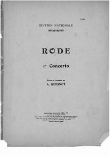 Violinkonzert Nr.1 in d-Moll, Op.3: Für Violine und Klavier – Solo Stimme by Pierre Rode