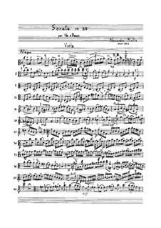 Sonate für Bratsche und Basso Continuo, BI 323: Sonate für Bratsche und Basso Continuo by Alessandro Rolla