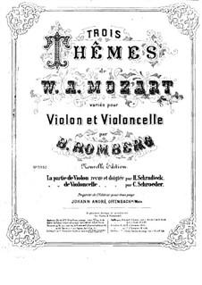Drei Themen von Mozart. Variationen für Violine und Cello: Violinstimme by Bernhard Romberg