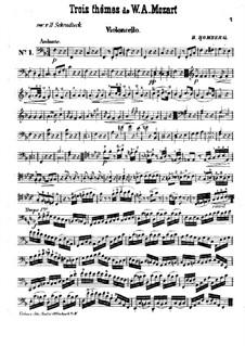 Drei Themen von Mozart. Variationen für Violine und Cello: Cellostimme by Bernhard Romberg