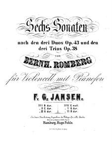 Drei Sonaten für Cello und Basso Continuo, Op.43: Sonate Nr.1 für Cello und Klavier – Cellostimme by Bernhard Romberg