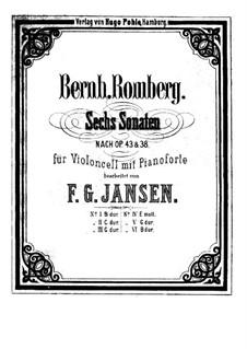 Drei Sonaten für Cello und Basso Continuo, Op.43: Sonate Nr.2, für Cello und Klavier by Bernhard Romberg