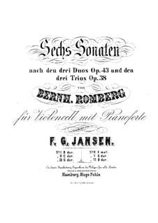 Drei Sonaten für Cello und Basso Continuo, Op.43: Sonate Nr.2 für Cello und Klavier – Cellostimme by Bernhard Romberg