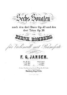 Drei Sonaten für Cello und Basso Continuo, Op.43: Sonate Nr.3 für Cello und Klavier – Cellostimme by Bernhard Romberg