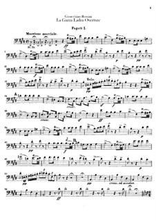 Die diebische Elster: Ouvertüre – Fagottstimmen by Gioacchino Rossini