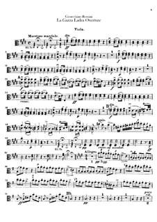 Die diebische Elster: Ouvertüre – Bratschenstimme by Gioacchino Rossini