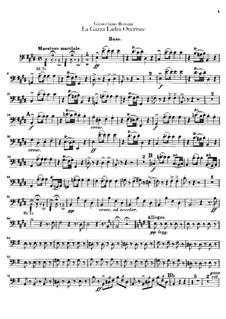 Die diebische Elster: Ouvertüre – Kontrabassstimme by Gioacchino Rossini