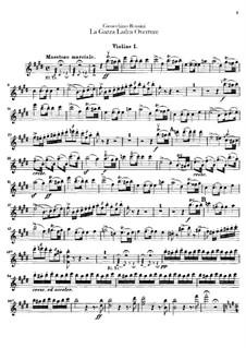 Die diebische Elster: Ouvertüre – Violinstimmen by Gioacchino Rossini