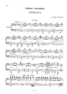 Andante in D-Dur für Klavier, vierhändig: Andante in D-Dur für Klavier, vierhändig by Samuel Alexandre Rousseau