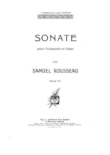Sonate für Cello und Klavier in a-Moll: Partitur by Samuel Alexandre Rousseau