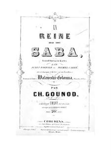 Die Königin von Saba: Klavierauszug mit Singstimmen by Charles Gounod