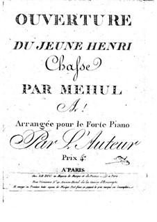 Ouvertüre zu 'Le jeune Henri': Für Violine und Klavier by Étienne Méhul