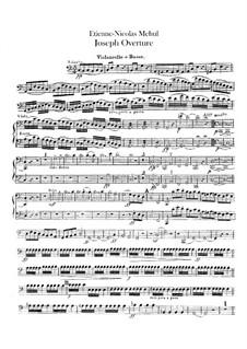 Joseph: Ouvertüre – Cello- und Kontrabassstimme by Étienne Méhul