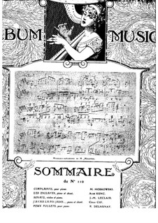 Drei Stücke für Klavier, Op.87: Nr.1 Complainte by Moritz Moszkowski