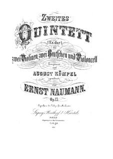 Streichquintett Nr.2 in Es-Dur, Op.13: Streichquintett Nr.2 in Es-Dur by Ernst Naumann