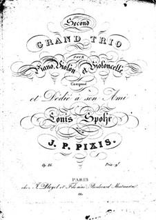 Klaviertrio in F-Dur, Op.86: Klavierstimme by Johann Peter Pixis