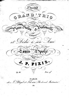 Klaviertrio in F-Dur, Op.86: Violinstimme by Johann Peter Pixis