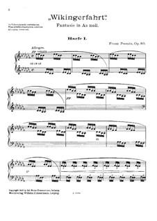 Fantasie 'Wikingerfahrt' für zwei Harfen, Op.80: Harfestimme I by Franz Poenitz