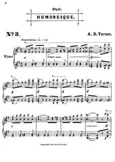 Sechs Konzertetüden: Nr.3 Humoreske by Alfred Dudley Turner