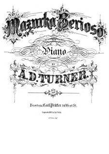 Mazurka serioso: Mazurka serioso by Alfred Dudley Turner