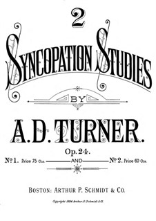 Two Syncopation Studies, Op.24: Vollsammlung by Alfred Dudley Turner