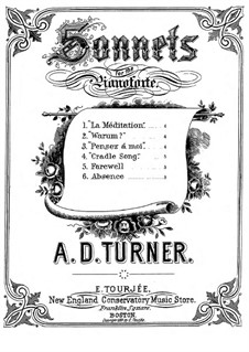 Sonnets for Piano: No.3 Absence by Alfred Dudley Turner