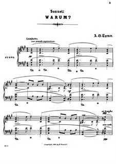 Sonnets for Piano: No.2 Warum by Alfred Dudley Turner