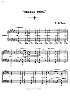 Sonnets for Piano: No.4 Cradle Song by Alfred Dudley Turner