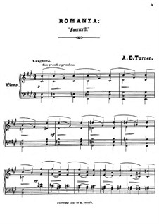 Sonnets for Piano: No.5 Farewell by Alfred Dudley Turner