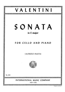 Sonate in E-Dur: Für Cello und Klavier by Giuseppe Valentini