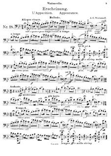 Erscheinung: Für Cello und Klavier – Cellostimme by Alexander Warlamow