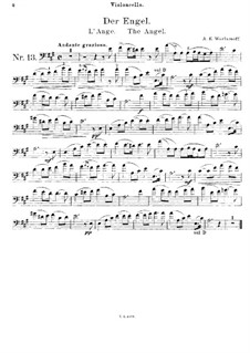 Der Engel: Für Cello und Klavier – Cellostimme by Alexander Warlamow