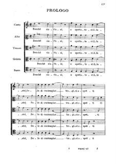 L'amfiparnaso: Acts I-II – vocal part by Orazio Vecchi